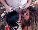 Mec baise deux jolies putes espagnoles lesbiennes
